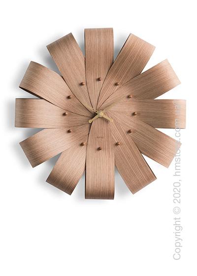 Часы настенные Nomon Ciclo Wall Clock, Oak and Gold