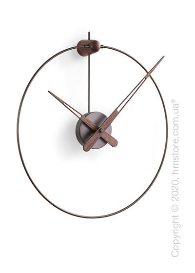 Часы настенные Nomon Micro Anda Wall Clock, Grafite and Walnut