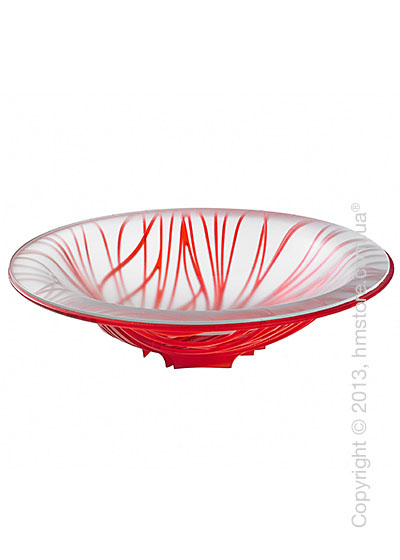 Фруктовница с чашей Bugatti Flora, Красная