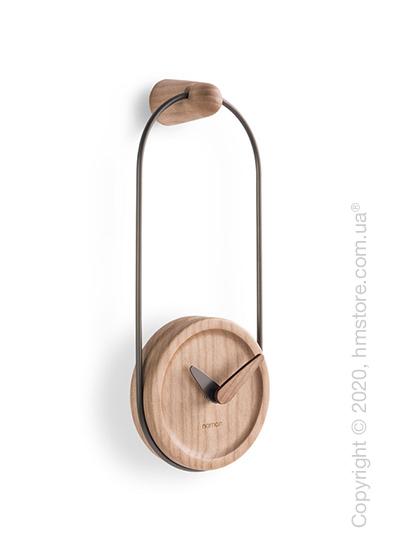 Часы настенные Nomon Micro Eslabon Wall Clock, Grafite and Oak