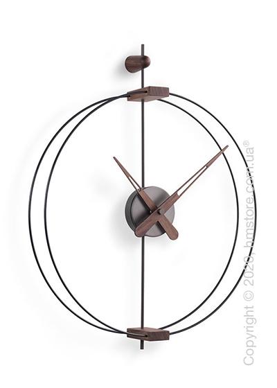 Часы настенные Nomon Micro Barcelona Wall Clock, Grafite and Walnut