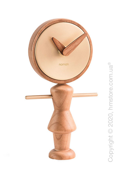 Часы настольные Nomon Nena Table Clock, Oak and Gold