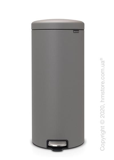 Ведро для мусора Brabantia Pedal Bin NewIcon 30 л, Mineral Concrete Grey