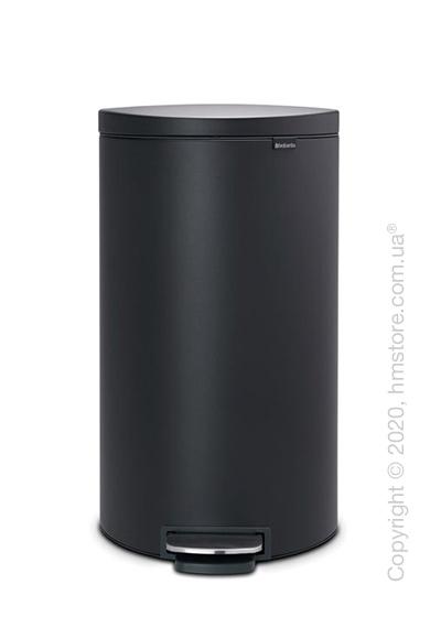Ведро для мусора Brabantia Pedal Bin Flatback+ 30 л, Mineral Infinity Grey