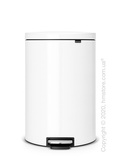 Ведро для мусора Brabantia Pedal Bin Flatback+ 40 л, White