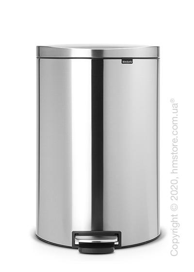 Ведро для мусора Brabantia Pedal Bin Flatback+ 40 л, Matt Steel Fingerprint Proof