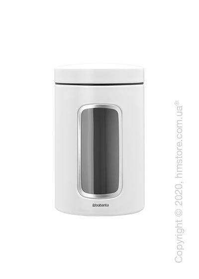 Емкость для хранения сыпучих продуктов Brabantia Window Canister 1,4 л, White