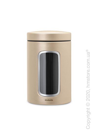 Емкость для хранения сыпучих продуктов Brabantia Window Canister 1,4 л, Champagne