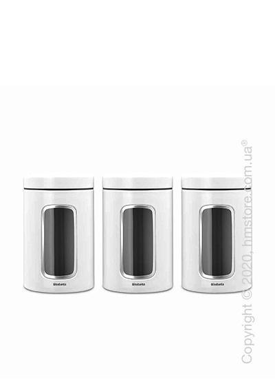 Набор емкостей для хранения сыпучих продуктов Brabantia Window Canister 1,4 л, White