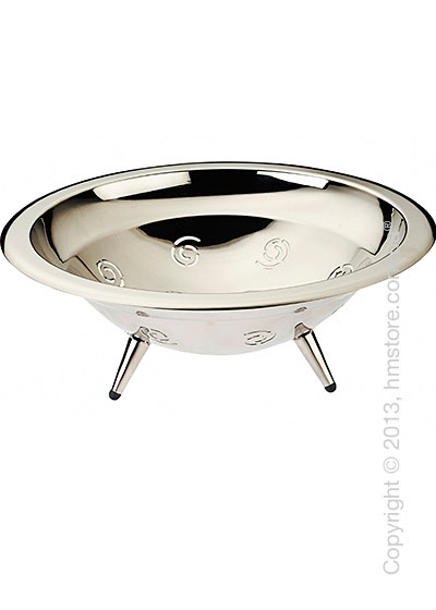 Фруктовница Bugatti Ricciolo Fruit Bowl, Хром