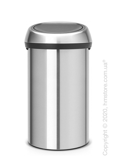 Ведро для мусора Brabantia Touch Bin New 60 л, Matt Steel Fingerprint Proof