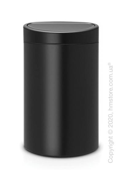 Ведро для мусора Brabantia Touch Bin New 40 л, Matt Black