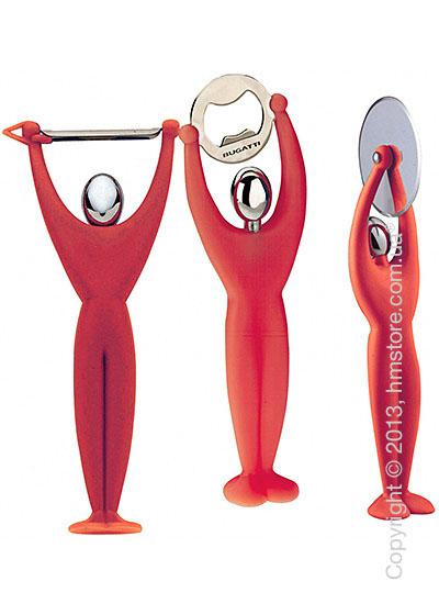 Набор кухонного инвентаря Bugatti Gym, Красный