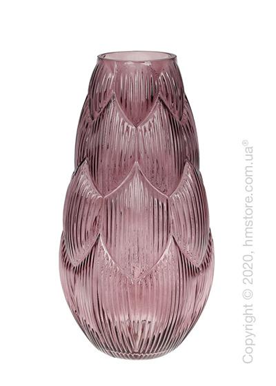 Ваза стеклянная Bona Di Artichoke, 35 см, Violet