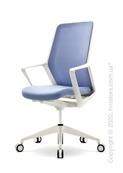 Кресло офисное на колесиках Enran Flo High, White and Blue