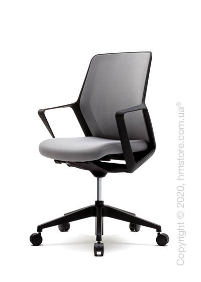 Кресло офисное на колесиках Enran Flo High, Black and Grey