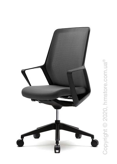 Кресло офисное на колесиках Enran Flo High, Black