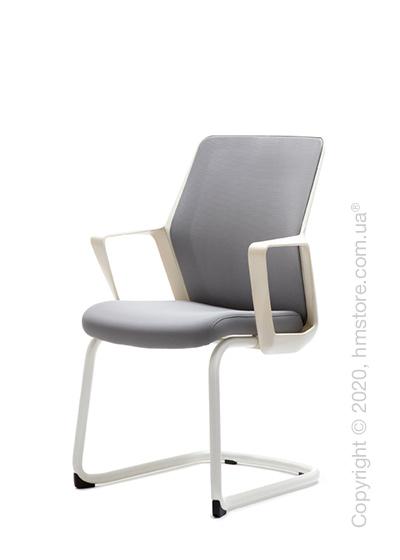 Кресло посетительское Enran Flo, White and Grey