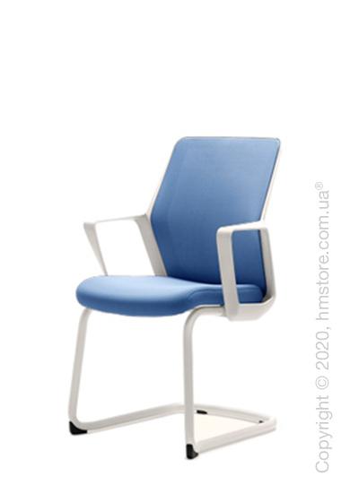 Кресло посетительское Enran Flo, White and Blue