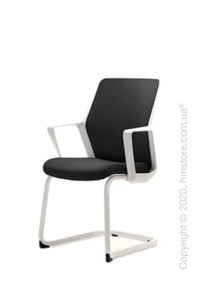 Кресло посетительское Enran Flo, White and Black