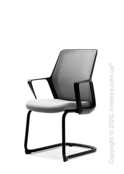 Кресло посетительское Enran Flo, Black and Grey