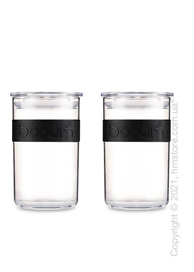 Набор емкостей для хранения сыпучих продуктов Bodum Presso 0,6 л, Black