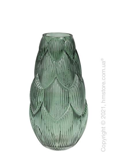 Ваза стеклянная Bona Di Artichoke, 35 см, Green