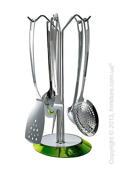 Набор кухонного инвентаря на подставке Bugatti Glamour, Зеленый