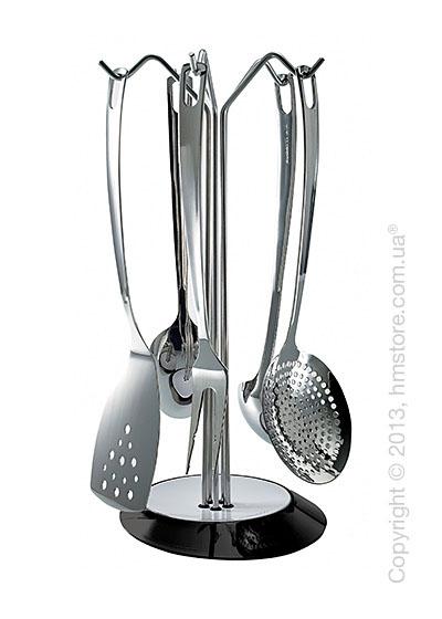 Набор кухонного инвентаря на подставке Bugatti Glamour, Черный