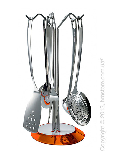 Набор кухонного инвентаря на подставке Bugatti Glamour, Оранжевый