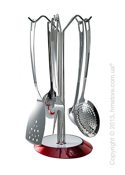 Набор кухонного инвентаря на подставке Bugatti Glamour, Красный