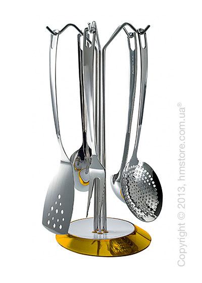 Набор кухонного инвентаря на подставке Bugatti Glamour, Желтый