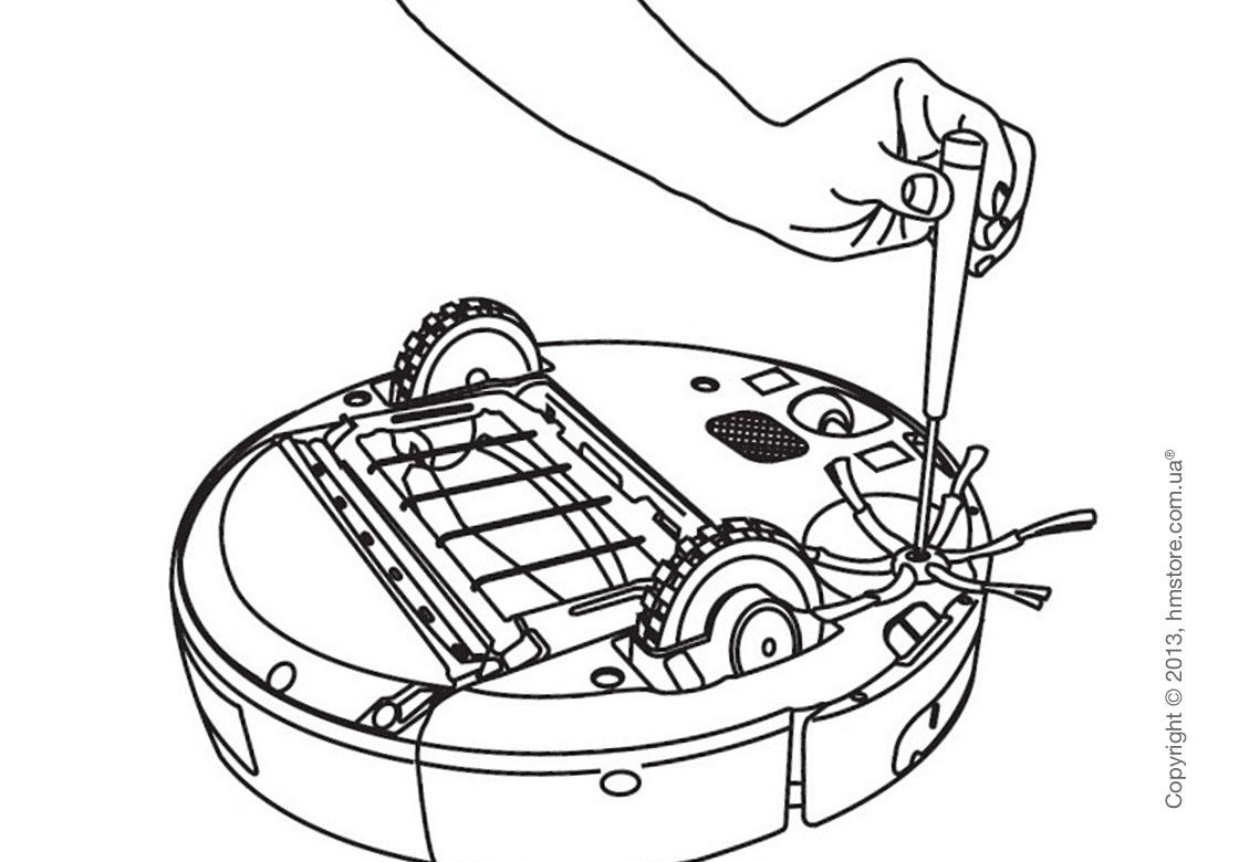 Боковая 6-ти лопастная щетка для iRobot Roomba 500-й, 600-й и 700-й серии