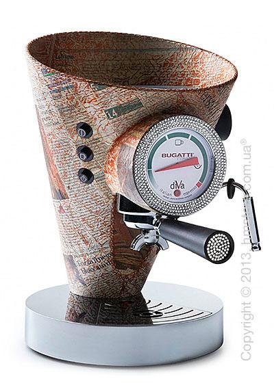Кофеварка в коже c отделкой кристаллами Bugatti Individual DIVA Leather and Details of light, Newspaper