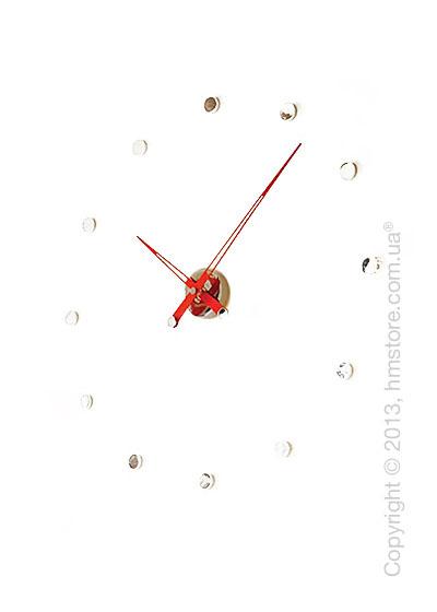 Часы настенные Nomon Rodon 12 I Wall Clock, Red