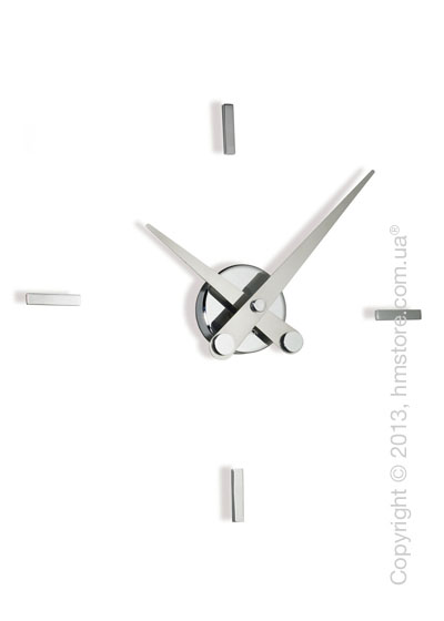 Часы настенные Nomon Puntos Suspensivos 4 I Wall Clock, Steel