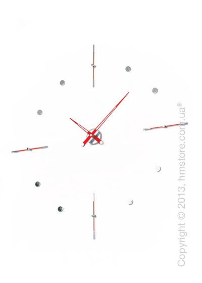 Часы настенные Nomon Mixto I Wall Clock, Red