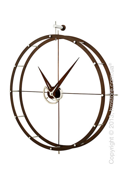 Часы настенные Nomon DOBLE O Wall Clock, Walnut
