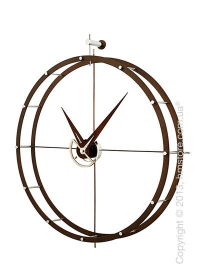 Часы настенные Nomon DOBLE O Wall Clock, Walnut