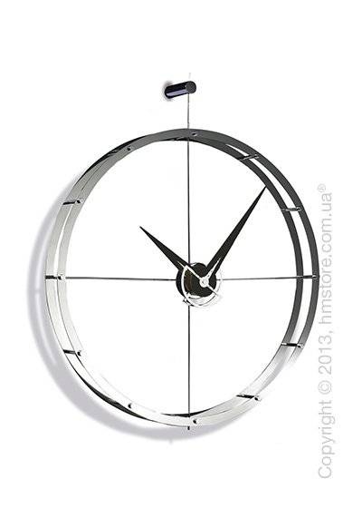 Часы настенные Nomon DOBLE O Wall Clock, Steel