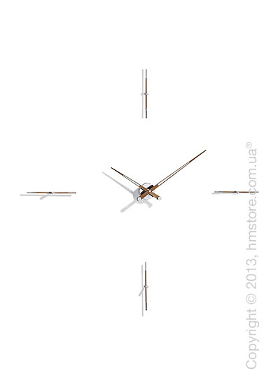 Часы настенные Nomon Merlin 4 N Wall Clock, Walnut