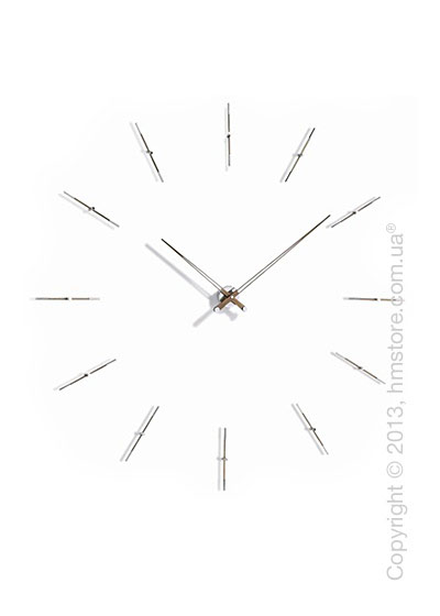 Часы настенные Nomon Merlin 12 N Wall Clock, Walnut