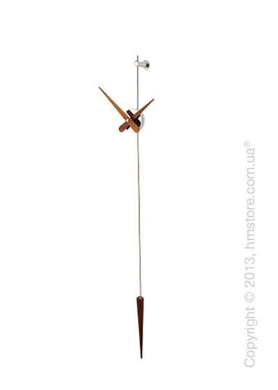 Часы настенные Nomon Punto Y Coma N Wall Clock, Walnut