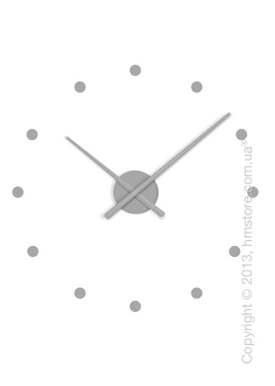 Часы настенные Nomon Oj Mini Wall Clock, Silver