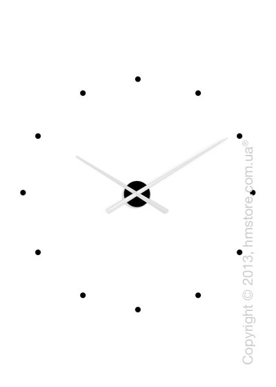 Часы настенные Nomon Oj Mixto Wall Clock, White and Black