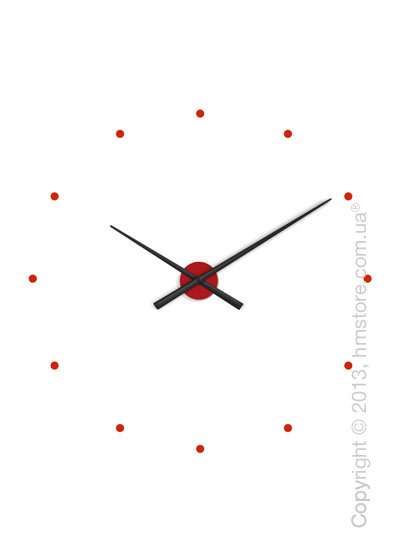 Часы настенные Nomon Oj Mixto Wall Clock, Black and Red
