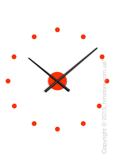 Часы настенные Nomon Oj Mini Mixto Wall Clock, Black and Red
