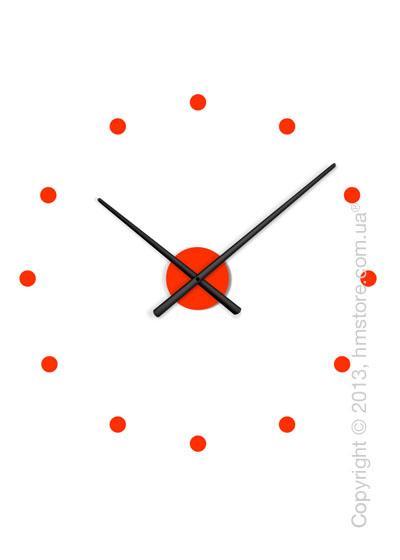 Часы настенные Nomon Oj Mini Mixto Wall Clock, Black and Red