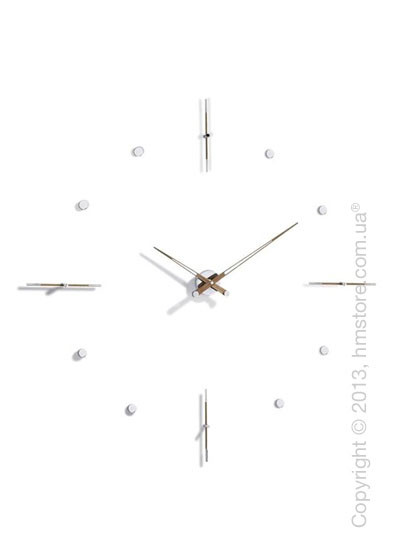 Часы настенные Nomon Mixto N Wall Clock, Walnut