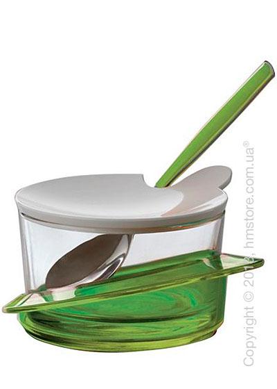 Емкость для пармезана / сахарница с ложкой Bugatti Glamour Parmesan Cheese Bowl, Зеленая
